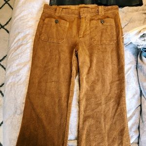 Burnt Orange corduroy pants w/ cool front pockets